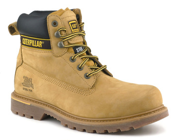 Safety Boots, Holton Honey Nubuck Leather, Caterpillar Goodyear Welted
