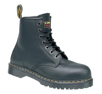 Safety Boots, Smooth Black Leather, Dr Martens