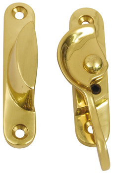 Sash Fastener, Fitch Pattern, Lockable, Brass