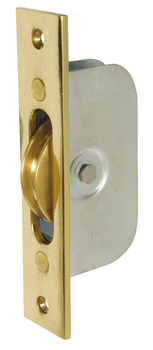 Sash Pulley, Axle Bearing, Ø 45mm Brass Wheel, Steel Frame