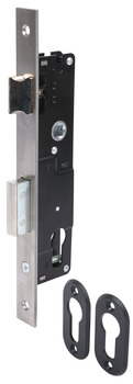 Sashlock Case, Mortice Cylinder, Narrow Stile, Steel, Stainless Steel and Brass