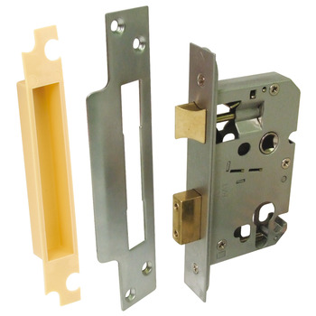 Sashlock, Euro, Latchbolt Operated by Lever Handles, Deadbolt Operated by Cylinder, Qube