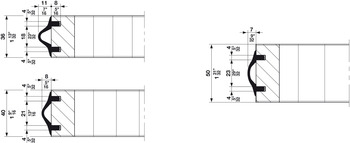 Sealing and Buffer Profile, for Sliding Interior Doors, Hawa