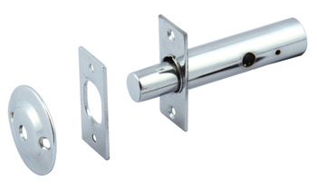 Security Bolt, Mortice Door, Brass/Steel