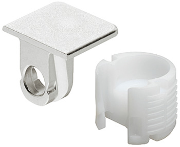Shelf Connector, Zinc Alloy Support, Plastic Boss Insert, TAB