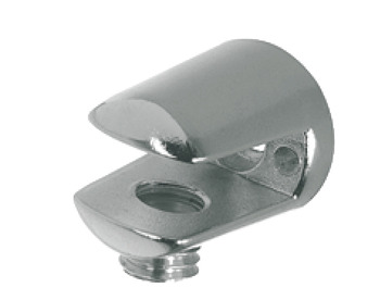 Shelf Support, Clamp Design, 24 mm, Screw Fixing, for Glass Shelves