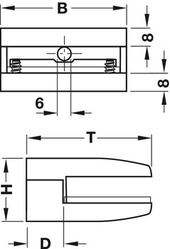Shelf Support, Clamp Design, Screw Fixing