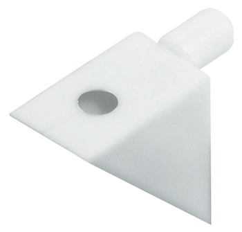 Shelf Support, Plug in, for Wooden Shelves and Ø 5 mm Holes, Plastic