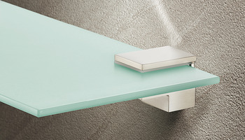 Shelf Support, Screw Fixing, for Glass or Wooden Shelves and for 6-25 mm Thickness
