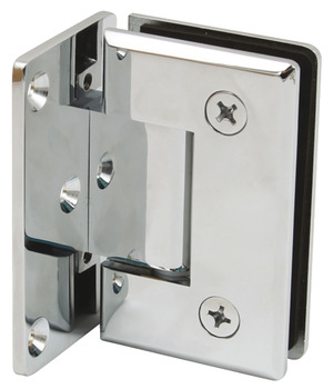 Shower Door Hinge, Wall to Glass Hinge 90° Hinge with Plate