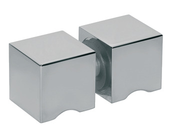 Shower Door Knob, Two-Sided Door Knob, 30 mm x 30 mm