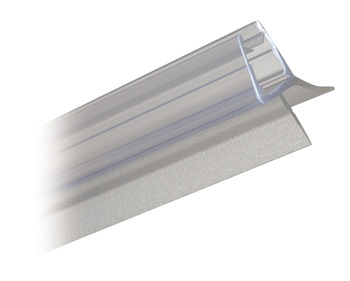 Shower Seal, Bottom H-Profile with Drip Rail Lip 135°, Length 2010 mm