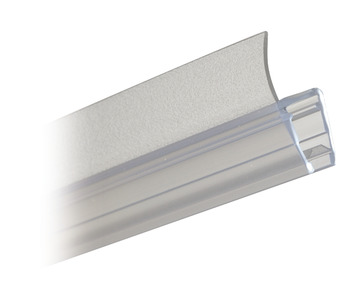 Shower Seal, H-Profile for Flush Shower Door Arrangement, Length 2010 mm