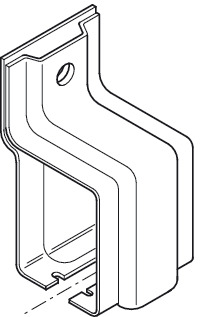 Side Fixing Bracket, for Folding Interior Doors, Foldaside 340 Endfold