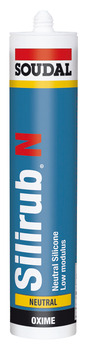 Silicone Sealant, Joint, Tube 300 ml, Soudal Silirub N
