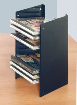 Single CD Rack, for Screw Mounting Between 2 Side Walls