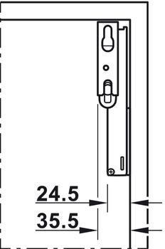 Single Door Flap Fitting, Complete Set, Free Space 1.8 Push