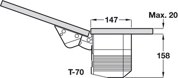Single Door Flap Fitting, Grass Kinvaro T-65 and T-70