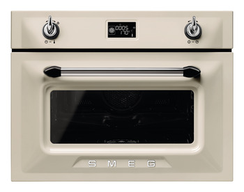Single Oven, Compact, Traditional Combination Steam, 600 mm, Smeg Victoria