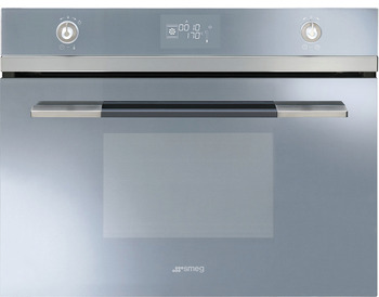 Single Oven, Compact with Reduced Height 450 mm, Combination Steam, 600 mm, Smeg Linea