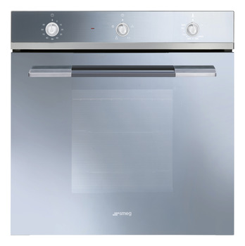 Single Oven, Gas Fan, with Electric Grill, 600 mm, Smeg Linea
