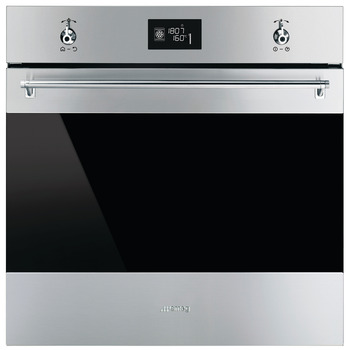 Single Oven, Multifunction, Pyrolitic, Finger-Friendly, 20 Functions, 600 mm, Smeg Classic
