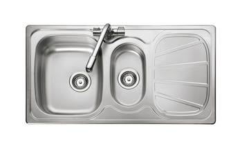 Sink, 1.5 Bowl and Drainer, Rangemaster Baltimore BL9502