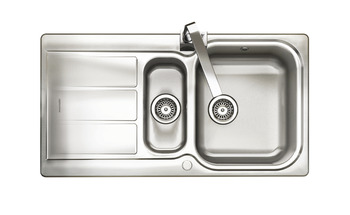 Sink, 1.5 Bowl and Drainer, Rangemaster Glendale GL9501