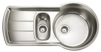 Sink, 1.5 Bowl and Drainer, Rangemaster Keyhole KY10002