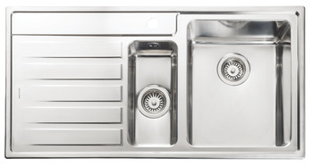 Sink, 1.5 Bowl and Drainer, Rangemaster Rockford RK9852
