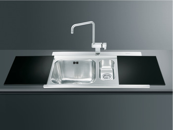 Sink, 1.5 Bowl and Drainer, Smeg Iris L1915