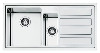 Sink, 1.5 Bowl and Drainer, Smeg Mira LD102-2