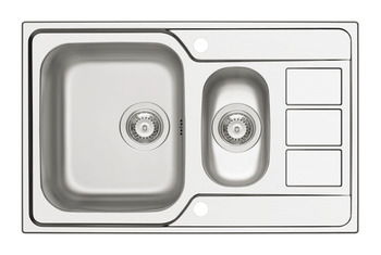 Sink, 1.5 Bowl with Drainer, Athena