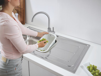 Sink, 1.5 Bowl with Drainer, Grohe K300
