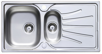 Sink and Tap Set, 965 mm, 1.5 Bowl and Drainer with Tap, Häfele Langdale