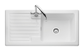 Sink, Ceramic, 1.0 Bowl and Drainer, Rangemaster CRT10101