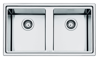 Sink, Double Bowl, Smeg Mira LD862-2
