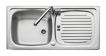 Sink, Single Bowl and Drainer, Rangemaster Euroline EL860