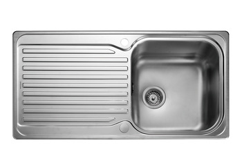 Sink, Single Bowl and Drainer, Rangemaster Sedona SD9851