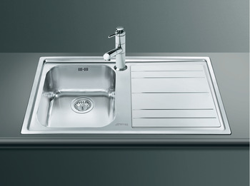 Sink, Single Bowl and Drainer, Smeg Rigae LE861-2
