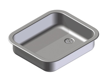 Sink, Single Bowl Inset Shallow with Insulation Pad, Ropox 30-45008