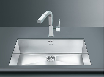 Sink, Single Bowl, Smeg Quadra VSTQ72-2
