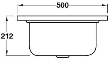 Sink, Single Square Bowl, Smeg Alba VS34/P3