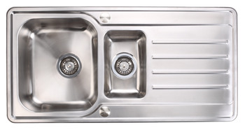 Sink, Stainless Steel 1.5 Bowl and Drainer, Häfele Abbey