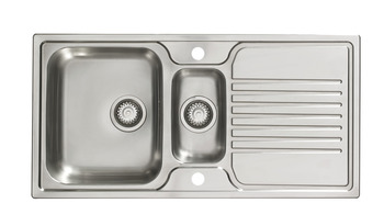 Sink, Stainless Steel 1.5 Bowl and Drainer, Häfele Aldford