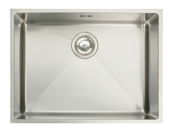Sink, Stainless Steel Single Bowl 570 x 430 mm, Häfele Ashton