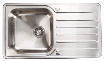 Sink, Stainless Steel Single Bowl and Drainer, 860 mm, Häfele Abbey