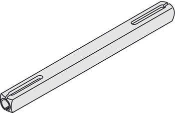 Slotted Spindle, 8 mm Square, for 'Frusital' and Other Levers