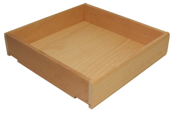 Solid Beech Drawer, Height 100-140 mm, Flat Packed with Beech Plywood Base
