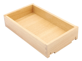 Solid Oak Drawer, Height 90-185 mm, Fully Assembled, for In-Frame Applications